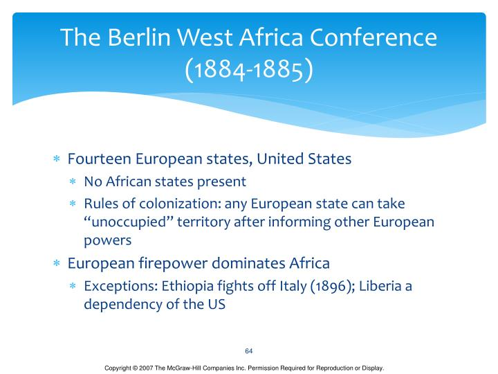 The Berlin West Africa Conference (1884-1885)
