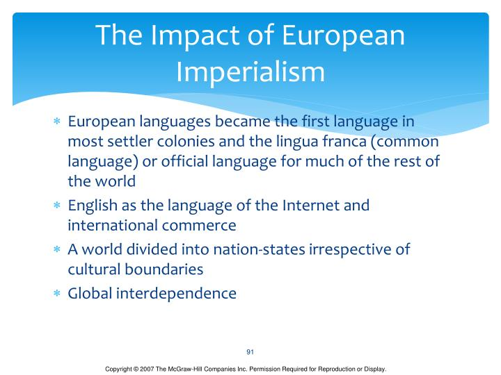 The Impact of European Imperialism