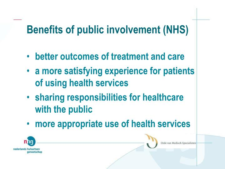Benefits of public involvement (NHS)