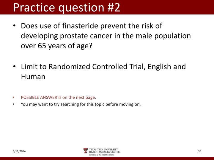 Practice question #2