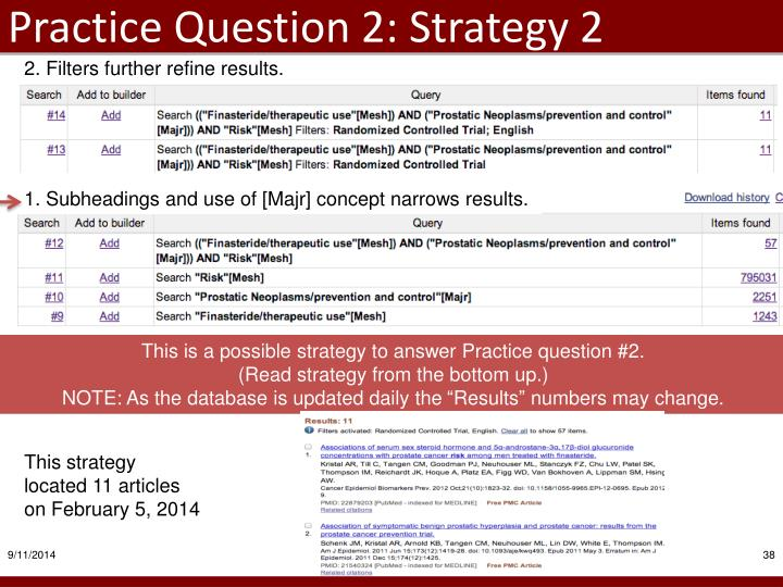 Practice Question 2: Strategy 2