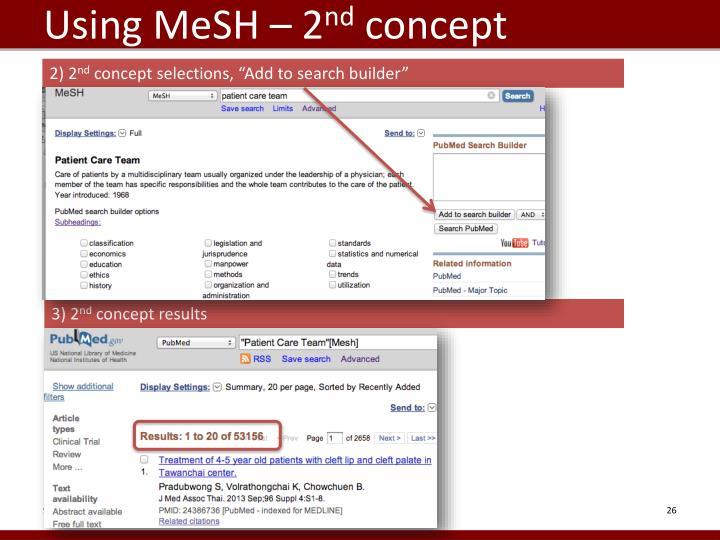 Using MeSH – 2