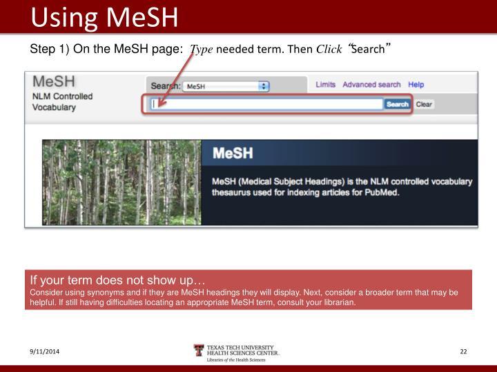 Using MeSH