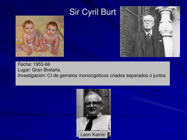 Sir Cyril Burt