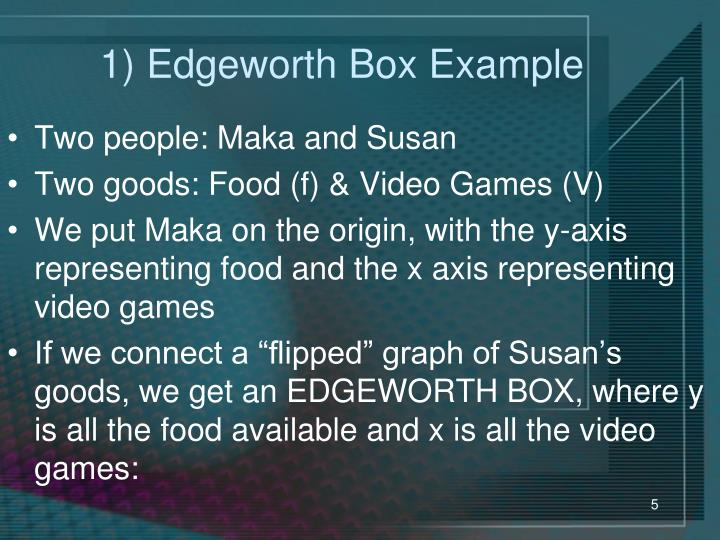 1) Edgeworth Box Example