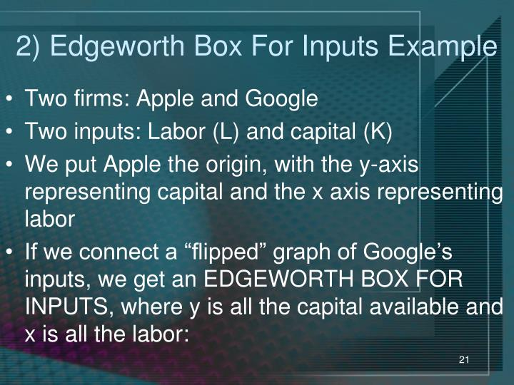 2) Edgeworth Box For Inputs Example