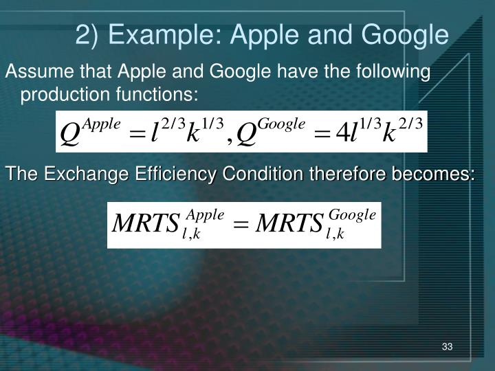 2) Example: Apple and Google