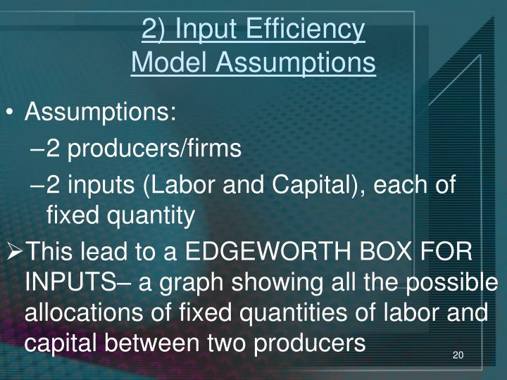 2) Input Efficiency