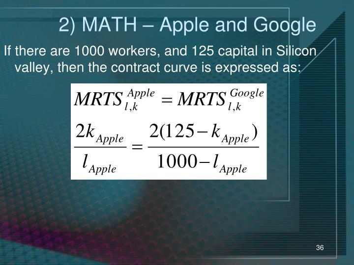 2) MATH – Apple and Google