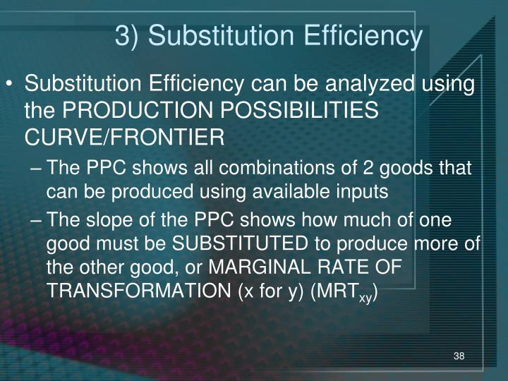 3) Substitution Efficiency