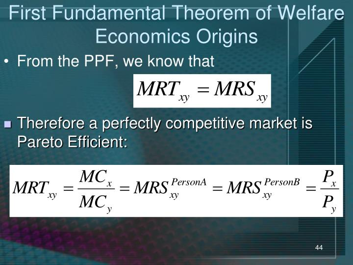 First Fundamental Theorem of Welfare Economics Origins