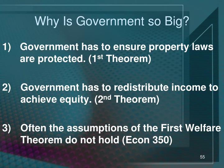 Why Is Government so Big?
