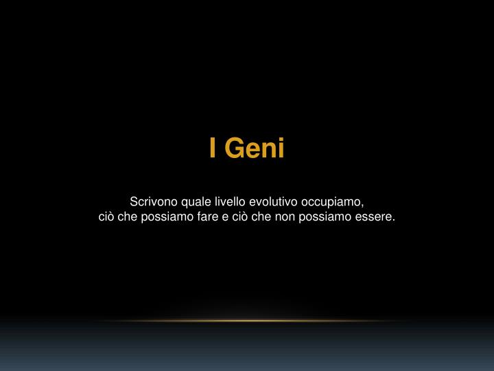 I Geni