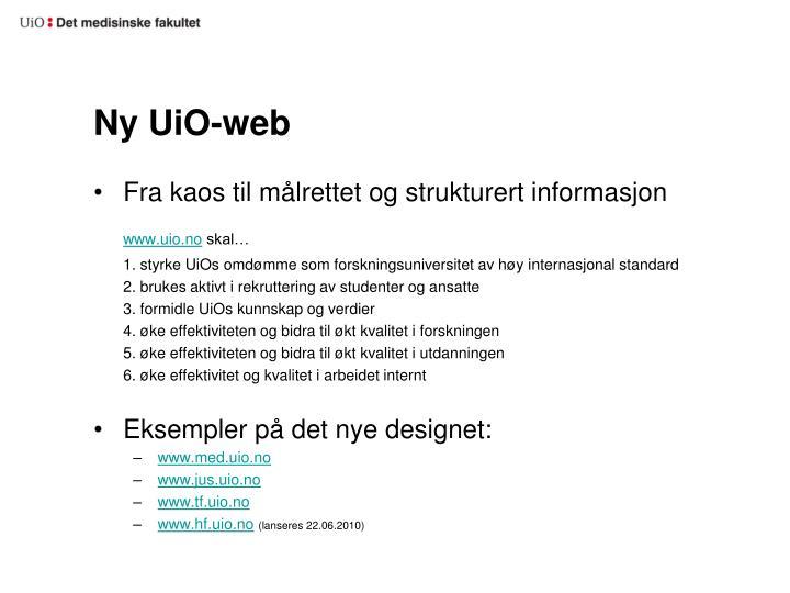 Ny UiO-web