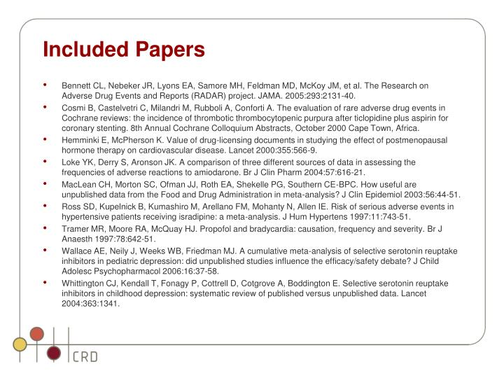 Included Papers