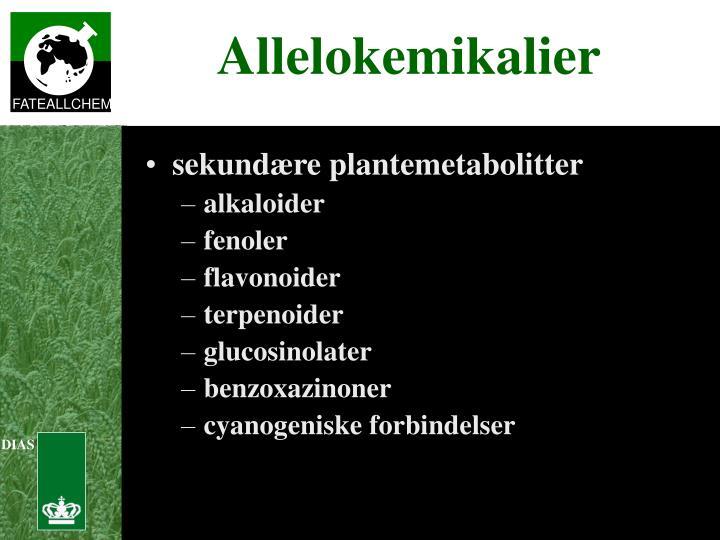 sekundære plantemetabolitter