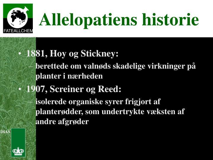 1881, Hoy og Stickney: