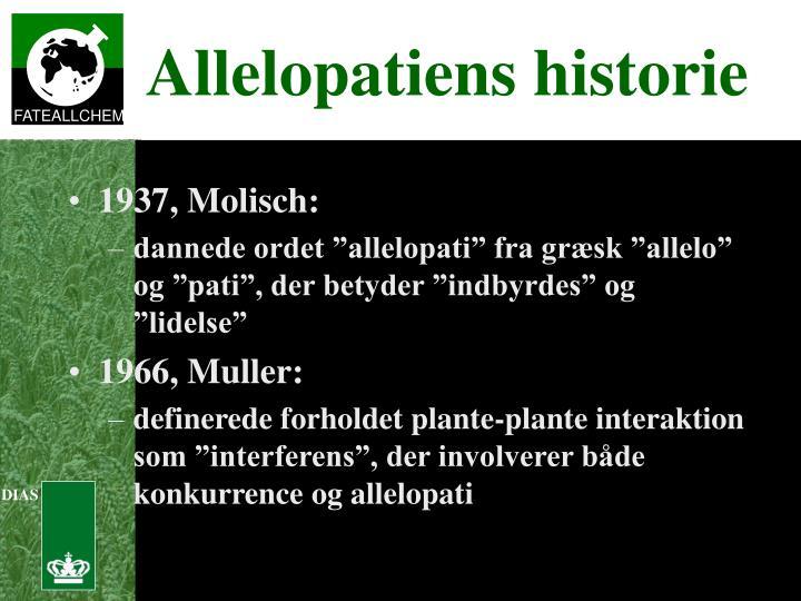 1937, Molisch: