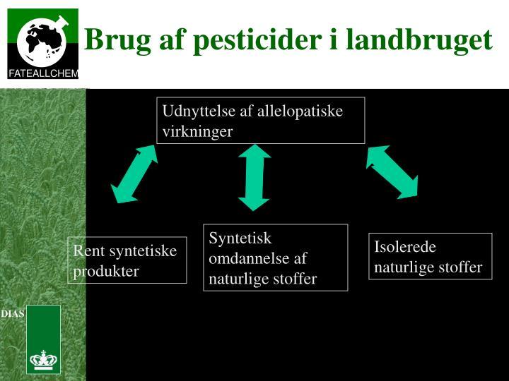 Brug af pesticider i landbruget