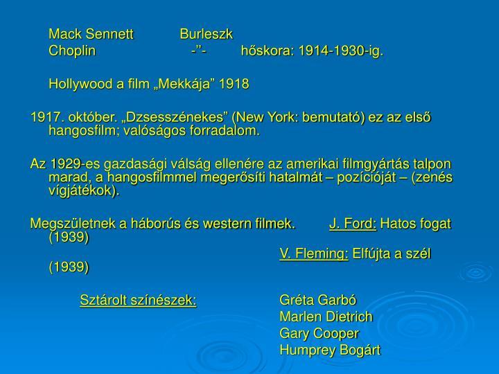 Mack Sennett Burleszk