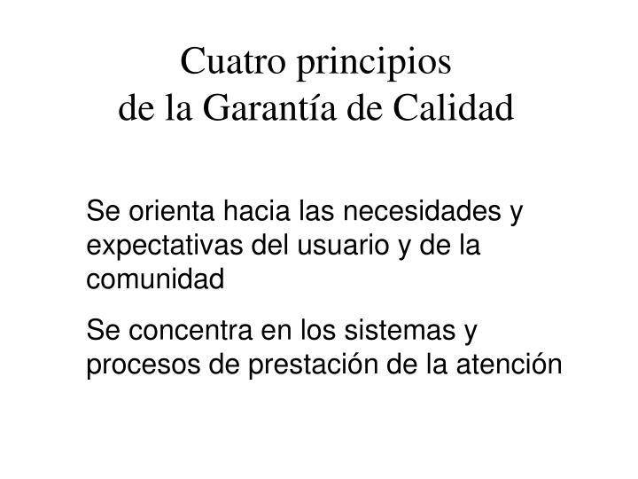 Cuatro principios