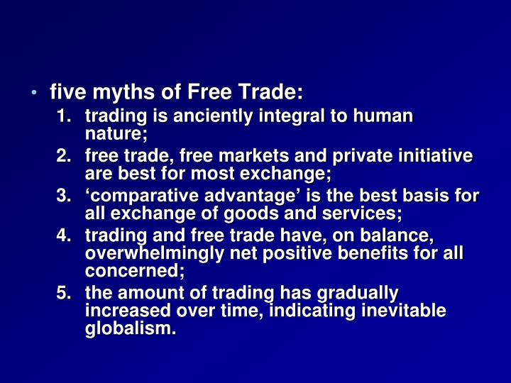 five myths of Free Trade:
