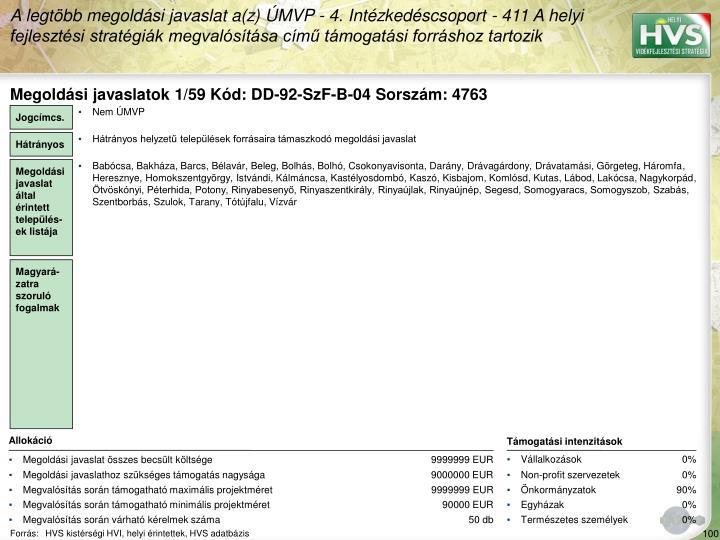 Megoldási javaslatok 1/59 Kód: DD-92-SzF-B-04 Sorszám: 4763