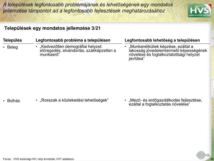 Települések egy mondatos jellemzése 3/21