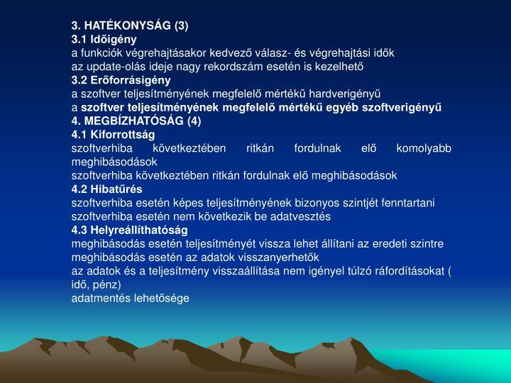 3. HATÉKONYSÁG (3)