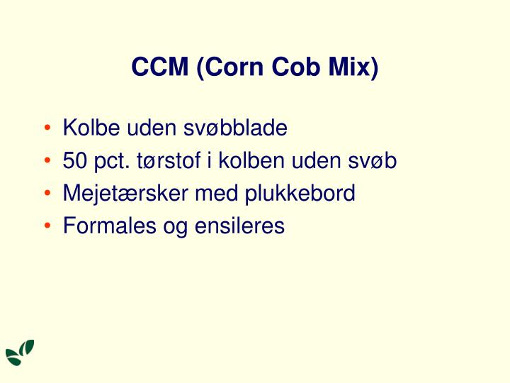 CCM (Corn Cob Mix)
