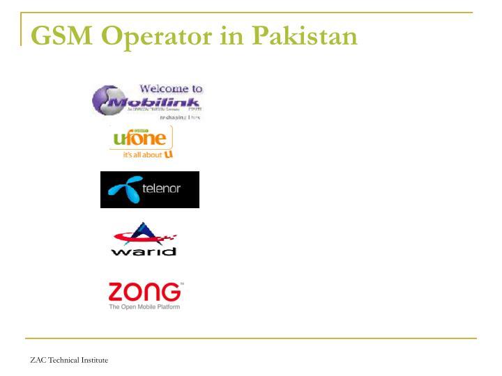 GSM Operator in Pakistan