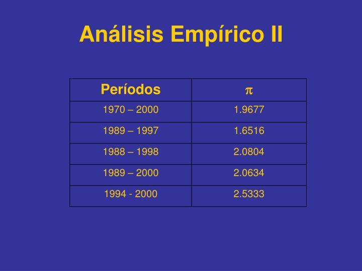 Análisis Empírico II