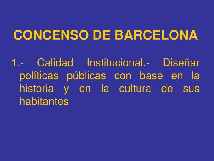 CONCENSO DE BARCELONA