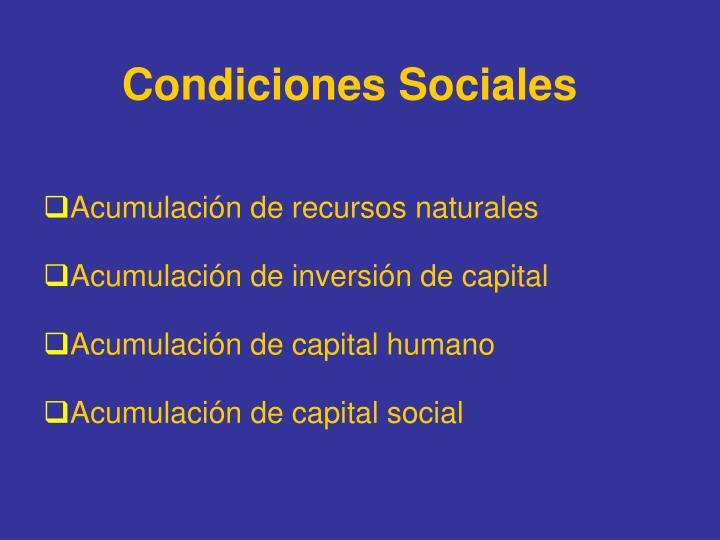 Condiciones Sociales