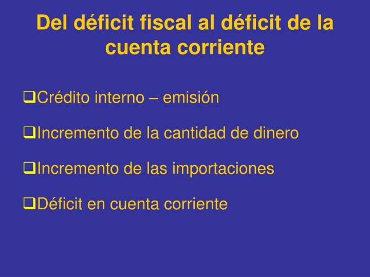 Del déficit fiscal al déficit de la cuenta corriente