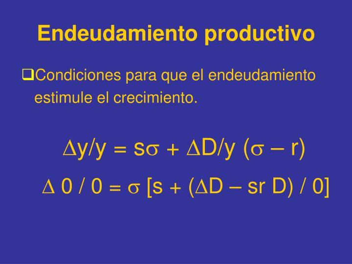 Endeudamiento productivo