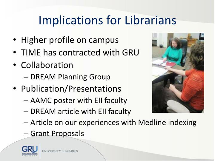Implications for Librarians