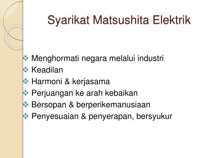 Syarikat Matsushita
