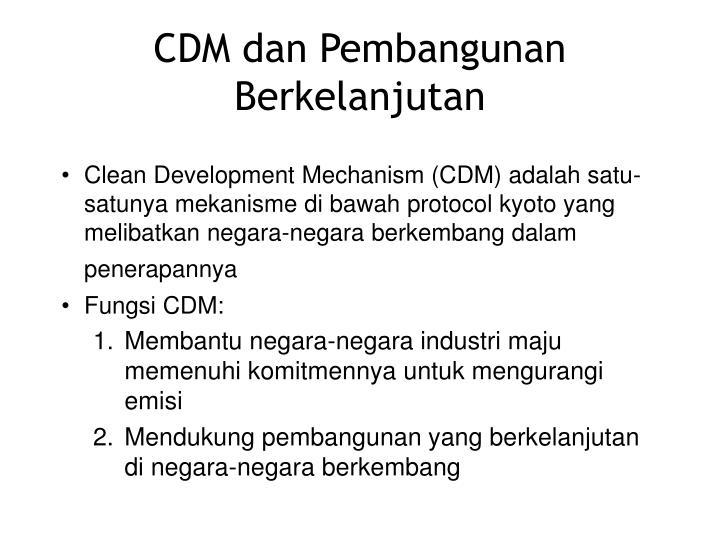 CDM dan Pembangunan Berkelanjutan