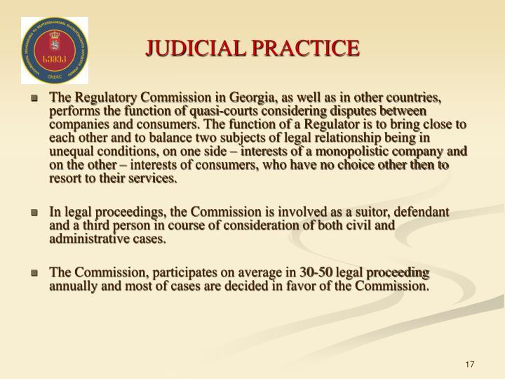 JUDICIAL PRACTICE