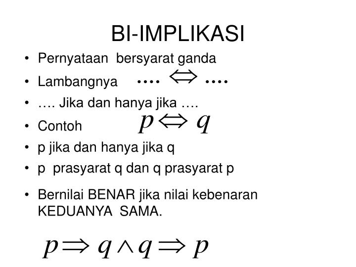 BI-IMPLIKASI