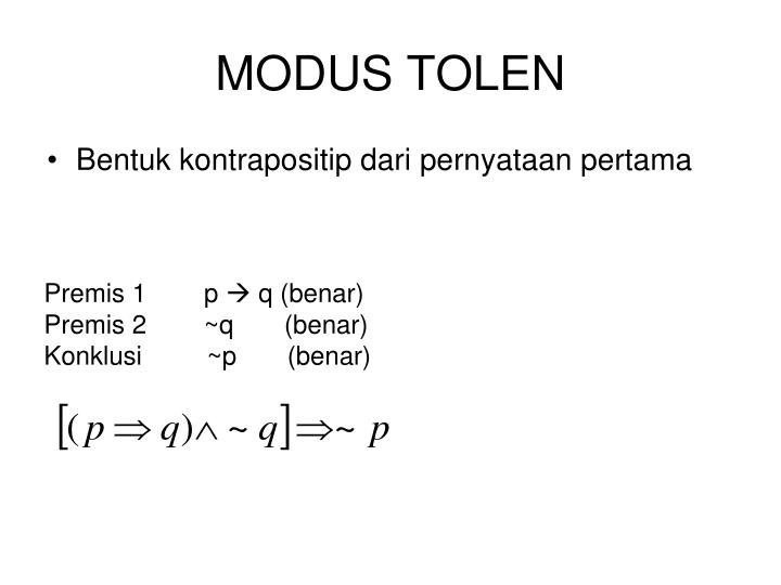 MODUS TOLEN