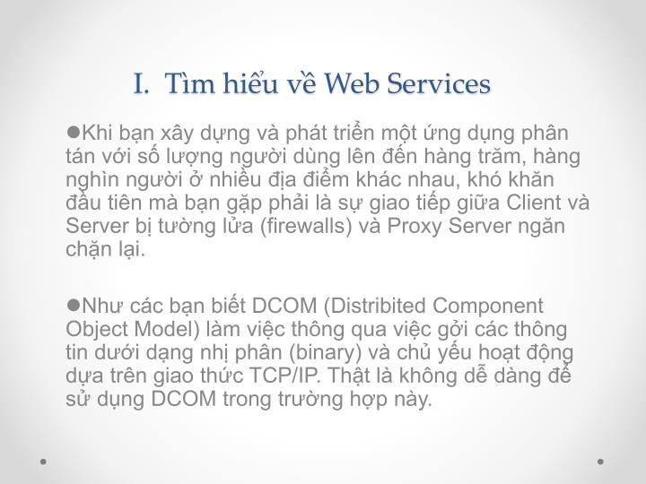I.  Tìm hiểu về Web Services