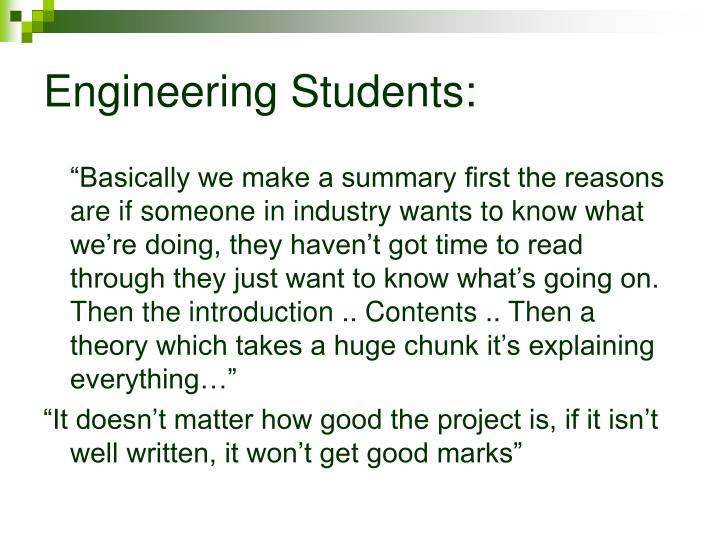 Engineering Students: