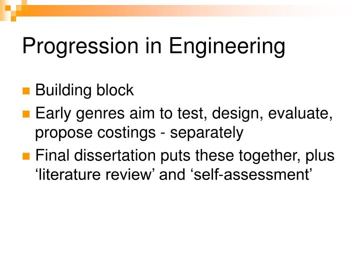 Progression in Engineering