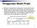penggunaan model probit