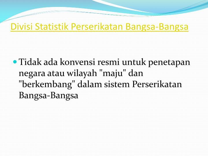 Divisi Statistik Perserikatan Bangsa-Bangsa