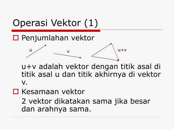 Operasi Vektor (1)