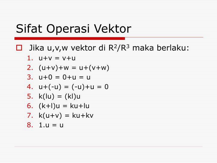 Sifat Operasi Vektor