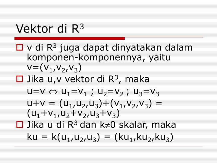 Vektor di R